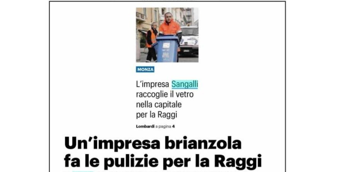 Impresa Sangalli raccoglie il vetro a Roma